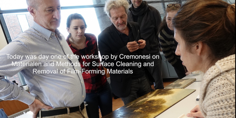 workshop Paolo Cremonesi over oppervlakte reiniging; dag 1